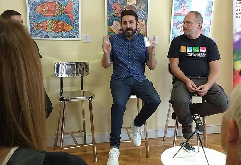 Antonio Ufarte presenta Tras la piel en la rueda de prensa presentación del LesGaiCineMad