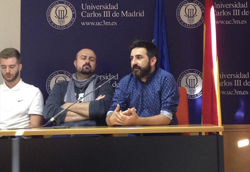 """Antonio Ufarte presenta """"Tras la piel"""" en la Universidad Carlos III de Madrid"""