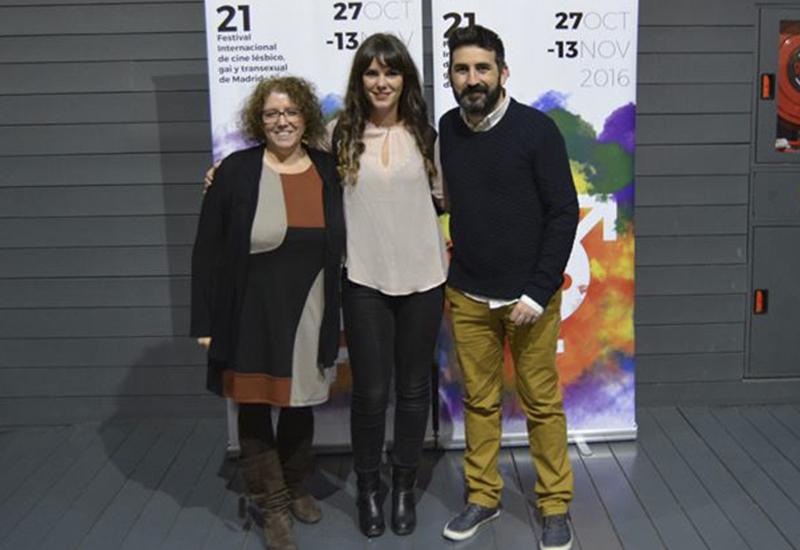 Encarna Hernando, Rocío Alzueta y Antonio Ufarte en Cineteca de Matadero